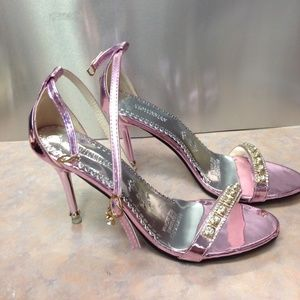 Ankle Strap Sandals Stiletto Heel Size 8 NWOT
